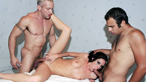 Taylor Rain Seduces Two Guys Into a Threesome