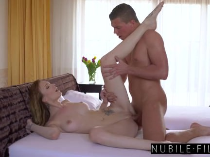 Brother Blindfolded & Fucked By Busty Petite Sis