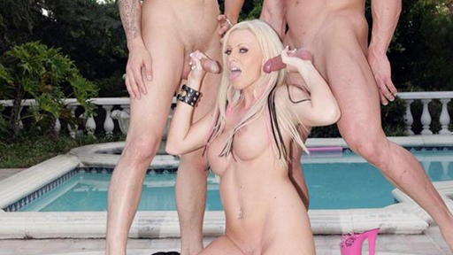 Kelly Taylor Working Two Dicks At Once